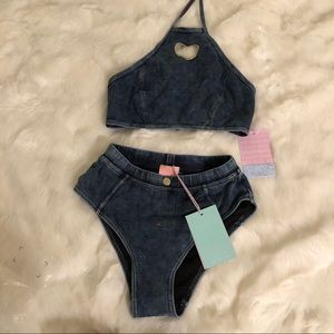 Other - Lazy oaf jean bikini set. NWT